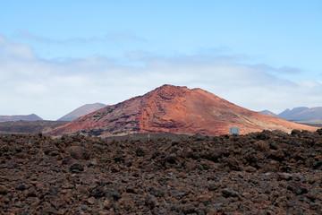 Mountain on Lanzarote, Canarian island Spain