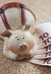 cochon-tirelire économies