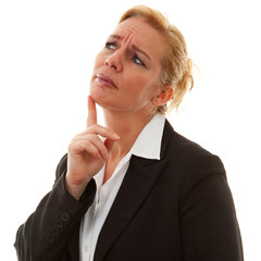 portrait of businesswoman thinking