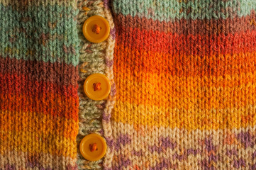 colourful knitted cardigan with buttons
