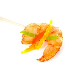 Little prawn snack on stick