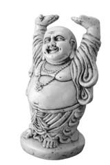 Statue d'un bouddha rieur ventru détourée