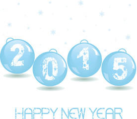 New Year Glass baubles. Vector