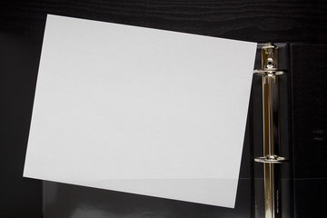 Blank sheet of office paper