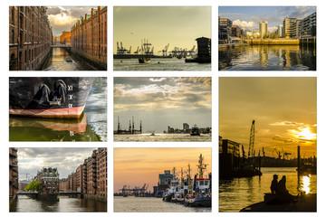 Kollektion Abendstimmung Hafen Hamburg