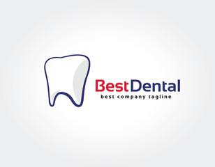 Abstract dental tooth vector logo icon concept. Logotype