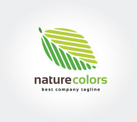 Abstract green leaf nature leafs care vector logo icon concept.