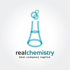 Abstract chemistry bottles vector logo icon concept. Logotype