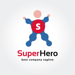 Abstract super hero vector logo icon concept. Logotype template