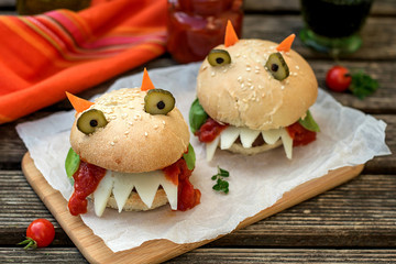 Burgers in the shape of devil