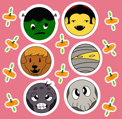 Halloween characters sticker