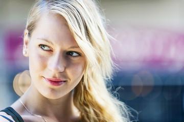 Young blond woman portrait