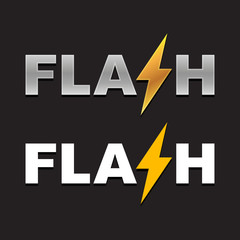 Flash Logo. Vector