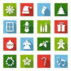 Flat Christmas Icons 2014 - V2