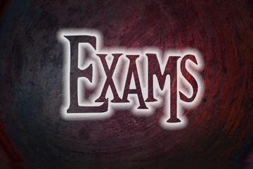 Exams Concept