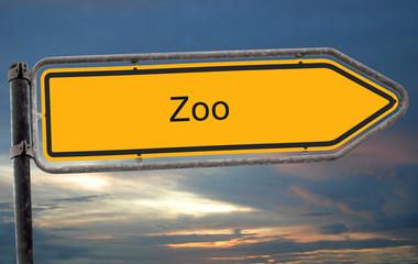 Strassenschild 19 - Zoo