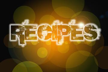 Recipes Concept