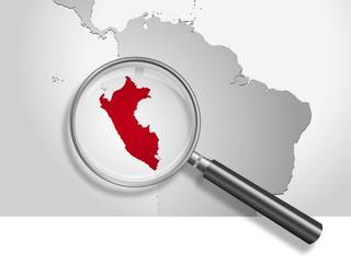 Landkarte *** Südamerika Peru