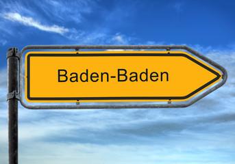 Strassenschild 26 - Baden-Baden