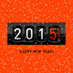 New year 2015 counter