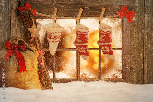 canvas print picture Frohe Weihnachten