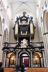 Organ of St. Salvator's Cathedral, Bruges, Belgium.