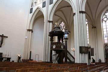 Interior of St. Salvator's Cathedral, Bruges, Belgium.