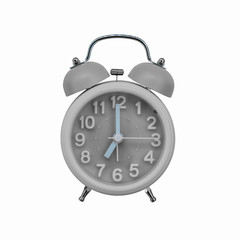 Gray alarm clock