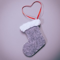 christmas sock with colour filter