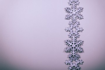 Christmas and New Years snowflake background