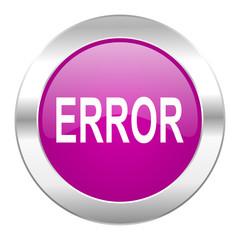 error violet circle chrome web icon isolated