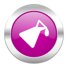 chemistry violet circle chrome web icon isolated