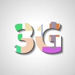 Three G abstract symbol