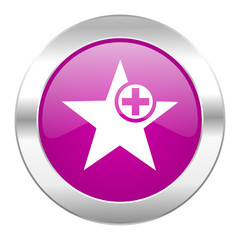 star violet circle chrome web icon isolated