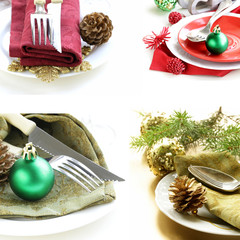 Set different variants for the Christmas table setting