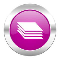 layers violet circle chrome web icon isolated