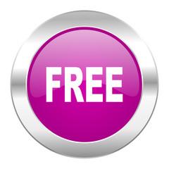 free violet circle chrome web icon isolated
