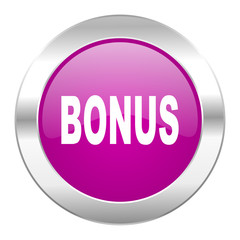 bonus violet circle chrome web icon isolated