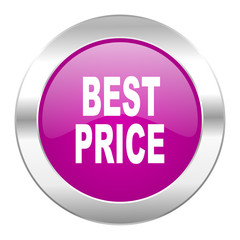 best price violet circle chrome web icon isolated