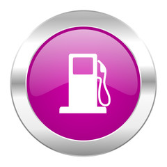 petrol violet circle chrome web icon isolated