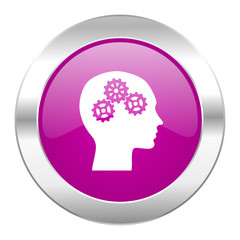 head violet circle chrome web icon isolated