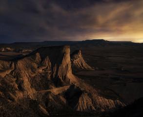 Moonrise over the desert
