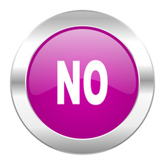 no violet circle chrome web icon isolated