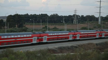 Passenger train in Israel