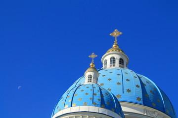 голубые купола Измайловского собора