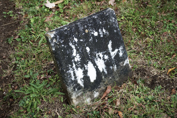 A Old Grave Stone in a Historic Cemetery