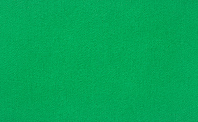 Green poker or pool table woolen baize
