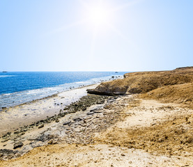 Landscape of the National Park of Ras Mohammed in  Egypt,Red sea
