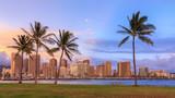 Beautiful sunset over Hawaii