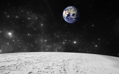 Earth view from moon